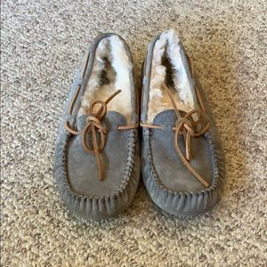 Ugg grey Dakota moccasin sheepskin slipper shoes 8